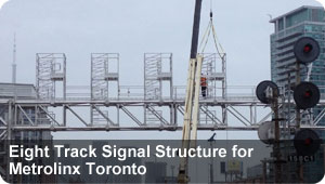 Eight Track Signal Structure for Metrolinx Toronto