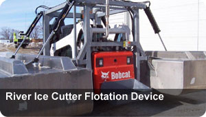 River Ice Cutter Flotation Device